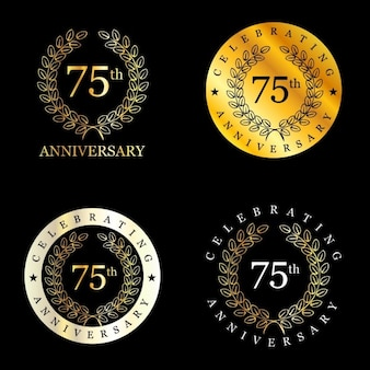 Golden 75 years celebrating laurel wreath