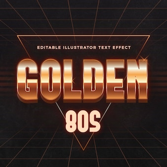 Golden 80s text effect