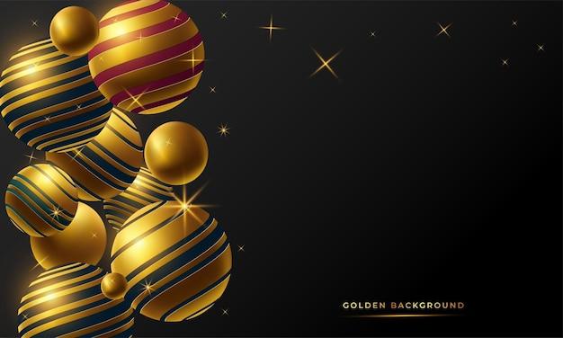 Golden abstract background Premium Vector