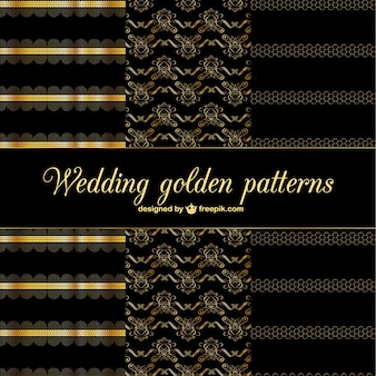 Golden abstract decorative patterns