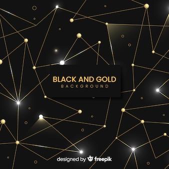 黄金の抽象的な幾何学的な背景