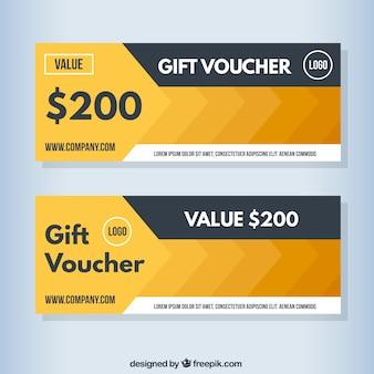 Golden abstract gift voucher