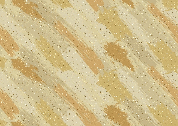 Golden abstract texture with brush strokes