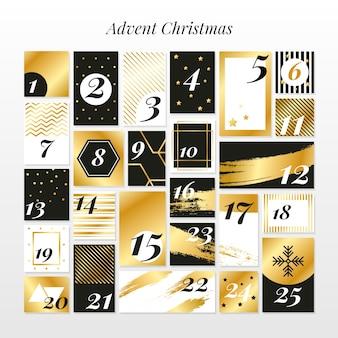 Golden advent calendar