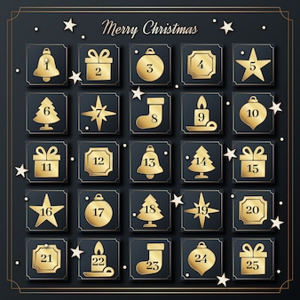 Golden advent calendar