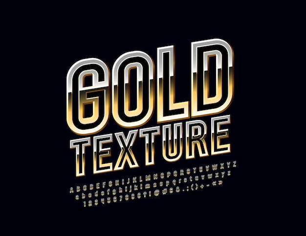 Золотой алфавит. шикарный тонкий шрифт. эксклюзивные вращающиеся буквы алфавита, цифры и символы.
