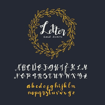 Golden alphabet collection