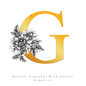 Golden alphabet letter g
