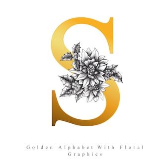 Golden Alphabet Letter S