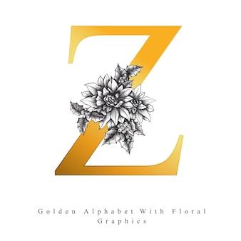 Golden alphabet letter z