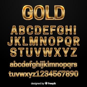 Golden alphabet template