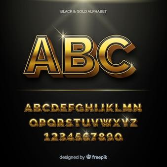 황금 알파벳 템플릿
