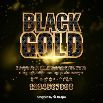 Golden alphabet