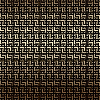 황금과 검은 기하학적 완벽 한 패턴, 아트 데코 스타일
