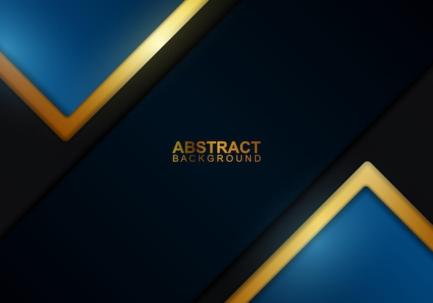 金色と濃い縞模様の背景。ベクトルイラスト。抽象的な背景。