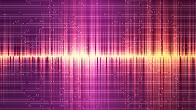 ゴールデンとピンクの超音波音波背景デザイン