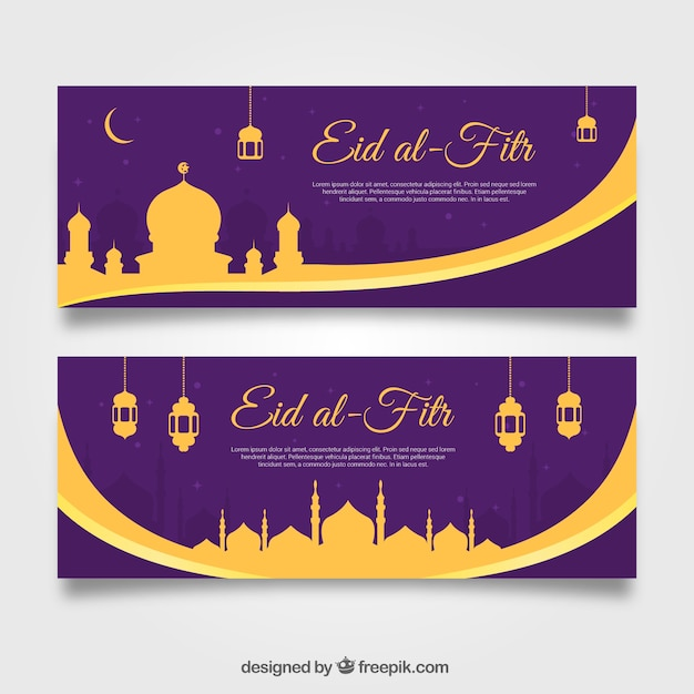 Amazing 3id Eid Al-Fitr Food - golden-and-purple-eid-al-fitr-banners_23-2147624103  Gallery_391456 .jpg?size\u003d338\u0026ext\u003djpg