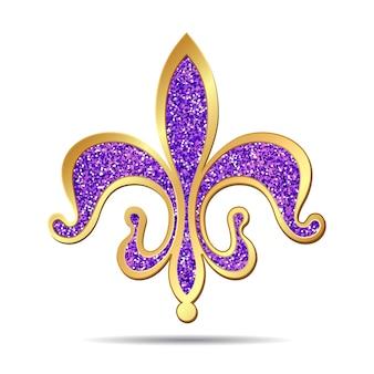 Золотой и фиолетовый флер-де-лис