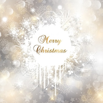 Golden and silver christmas card