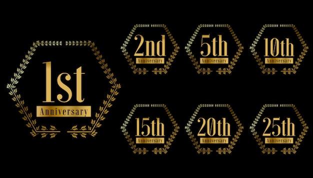 Golden anniversary celebration design set
