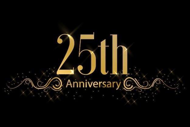 황금 기념일 축하 라벨