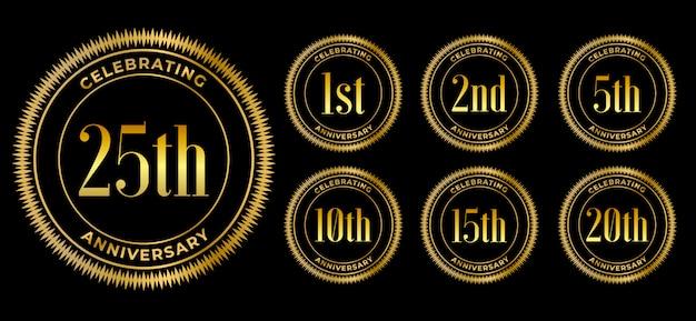 Golden anniversary celebration  set premium