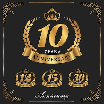 Golden anniversary designs collection