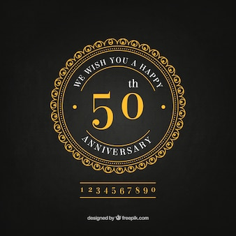 Golden anniversary elegant background