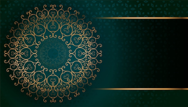 Golden arabesque arabis style islamic pattern background