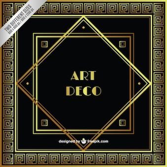Golden art deco background