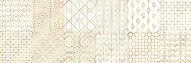 Golden art deco patterns.