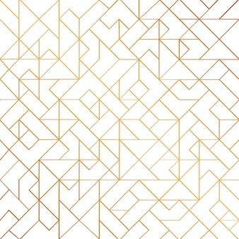 光沢のあるラインと黄金のアールデコのシームレスなパターン背景