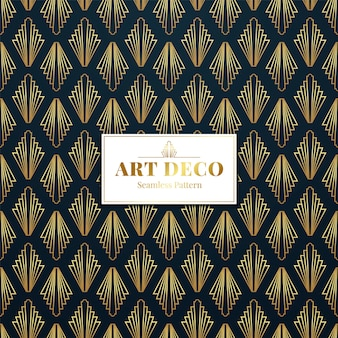 Golden art deco seamless pattern.