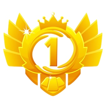Golden award 1st place, crown avatars for game ui.