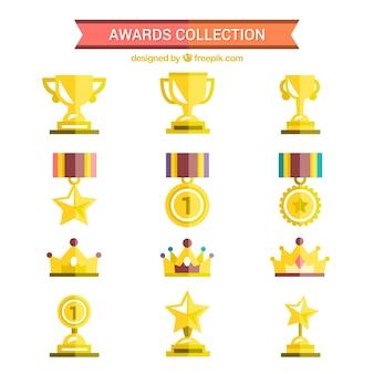 フラットスタイルでゴールデン賞コレクション