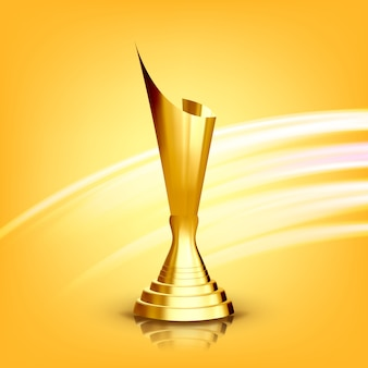 Golden award cup