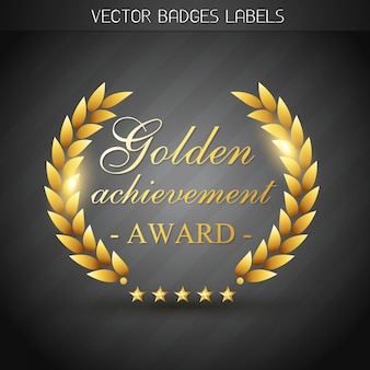 Golden award label  illustration