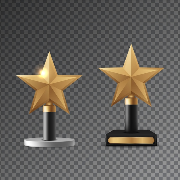 Golden award realistic vector illustration