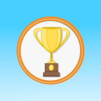 Golden award, trophy flat