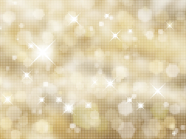 Golden background of halftone dots