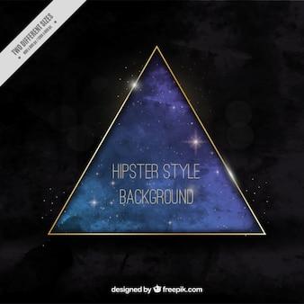 大きな三角形ゴールデン背景