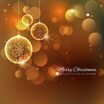 Golden background with christmas balls