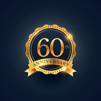 Golden badge for the 60th anniversary