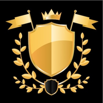 Golden badge design