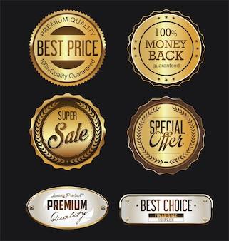Golden badges and labels