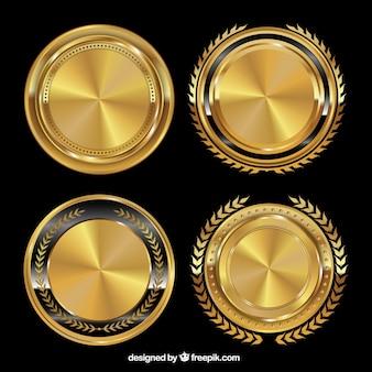 Золотые значки