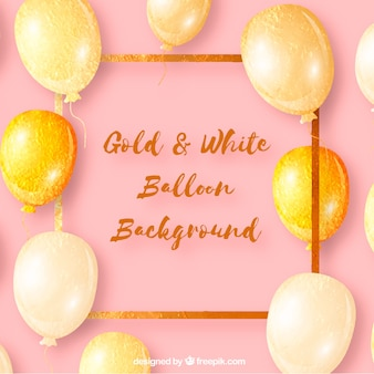 Golden balloons background to celebrate