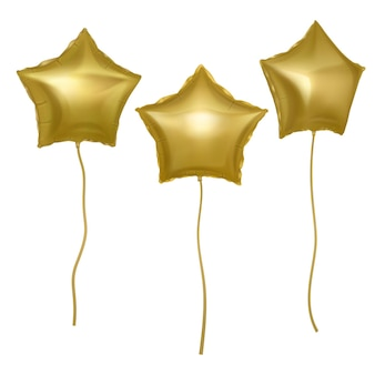 별 모양으로 설정하는 황금 풍선