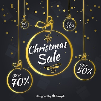 Golden balls christmas sale background