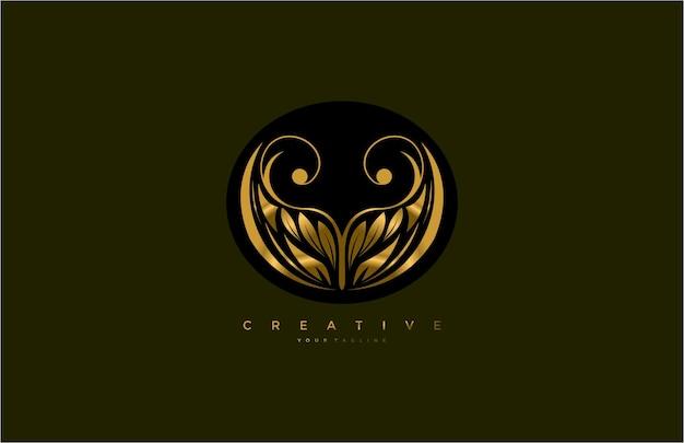 Закругленная логограмма процветает golden beauty